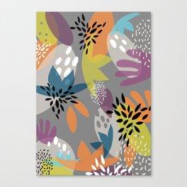 Tropical Minimalist Colors Canvas Print