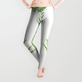 Fern seamless pattern. Leggings