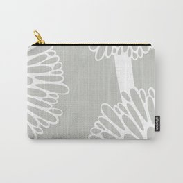 Pom Poms in Grey by Friztin Carry-All Pouch
