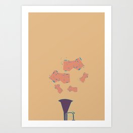 Salt Peanuts Art Print