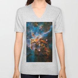 Carina Nebula, Galaxy Background, Universe Large Print, Space Wall Art Decor, Deep Space Poster Unisex V-Neck
