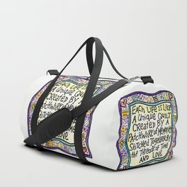 Quilt Quote Duffle Bag