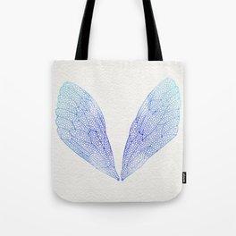 Periwinkle Ombré Cicada Wings Tote Bag