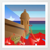 puerto rico Art Prints featuring Puerto Rico #2 by PADMA DESIGNS PR