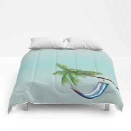 Cuba Hammock travel poster Comforters