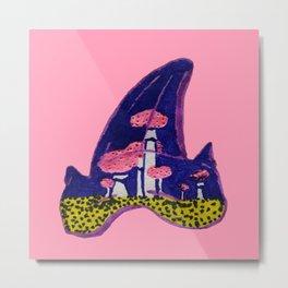 Shark Tooth Terrarium 2 Metal Print