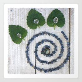 VivaLumi: Sapphire Spiral Art Print