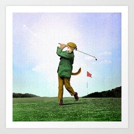 Sir Terrance Terrier Golfing Art Print