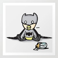 Art Print featuring Batbaby by Jazzdoodles