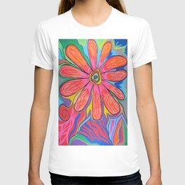 First big flower T-shirt