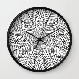 sweeping black and white 3 Wall Clock