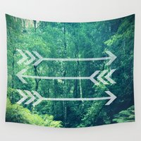arrow Wall Tapestries featuring Arrow by Emily Lanier