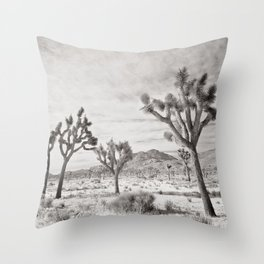 Joshua Tree Grey By CREYES Throw Pillow