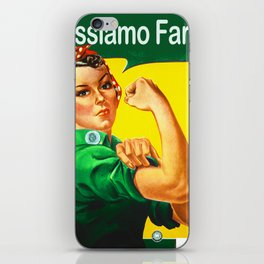 Italian Rosie The Riveter Woman Women Empowerment Women's Rights Italian American iPhone Skin
