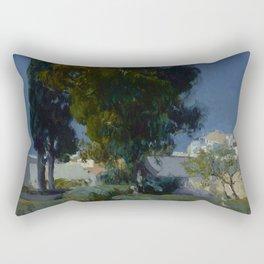 Joaquín Sorolla y Bastida (Spanish, 1863 - 1923) Corner of the Garden, Alcazar, Sevilla, 1910, Oil Rectangular Pillow