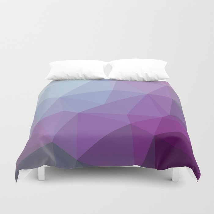 Shades Of Purple Triangle Abstract Duvet Cover