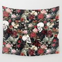 Vintage Floral With Skulls by roxygart