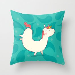 U is for unicorn Throw Pillow
