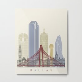 Dallas skyline poster Metal Print