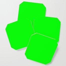 Neon Green Coaster