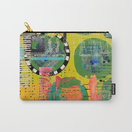 Colorful Circle Cut-out Abstract Art  Carry-All Pouch