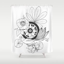 Fish Pond Shower Curtain