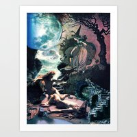 The other side of the wall Art Print