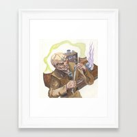 lab Framed Art Prints featuring Necromancer's Lab by Sean Greenberg Illustration