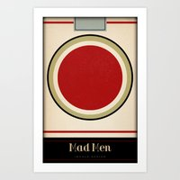 mad men Art Prints featuring Mad Men by Impale Design