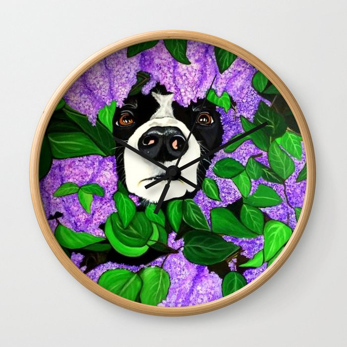 """""""Must Love Dogs"""" Wall Clock"""