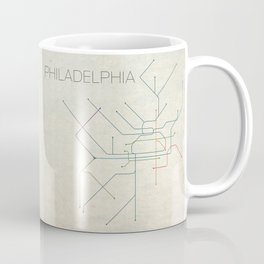 Minimal Philadephia Subway Map Coffee Mug