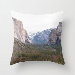 Tunnel View Yosemite National Park California USA Throw Pillow