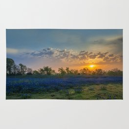 Daybreak In The Land Of Bluebonnets Rug