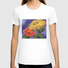 Warm Flowers, Sunflower & Poppy T-shirt