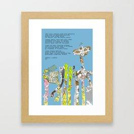 Jx3 Poem - 6 Framed Art Print