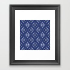 Paper Cut Snowflake Pattern Framed Art Print