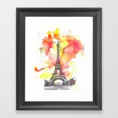 Eiffel Tower in Paris France Framed Art Print