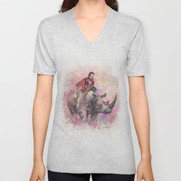The Squirrel and The King (The Kellum) Unisex V-Neck