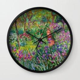 """Claude Monet """"The Iris Garden at Giverny"""", 1899-1900 Wall Clock"""