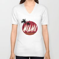 hotline miami V-neck T-shirts featuring Miami by FRSHCo.