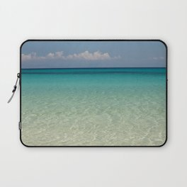 Crystal clear turquoise shaded waters of a sandy beach Laptop Sleeve