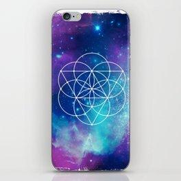 Egg Of Life Metaphysical Galaxy iPhone Skin
