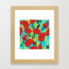 Mohnblüten,Poppies, Framed Art Print