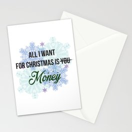 all i want for x-mas is... Stationery Cards