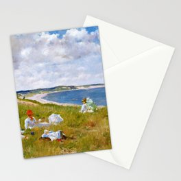 12,000pixel-500dpi - William Merritt Chase - Idle Hours - Digital Remastered Edition Stationery Cards