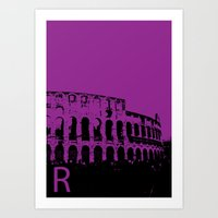 Rome R Art Print