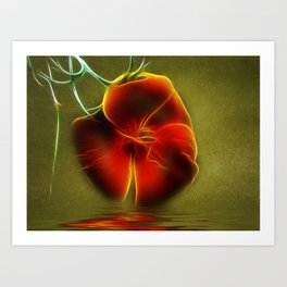 Reflection in Red Art Print