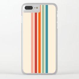 Rainbow Stripes Clear iPhone Case