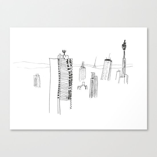 View of the BT Tower from Parliament Hill, London Canvas Print
