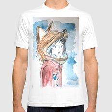 Red Hat MEDIUM White Mens Fitted Tee